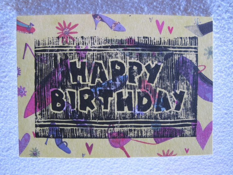 yellow birthday card