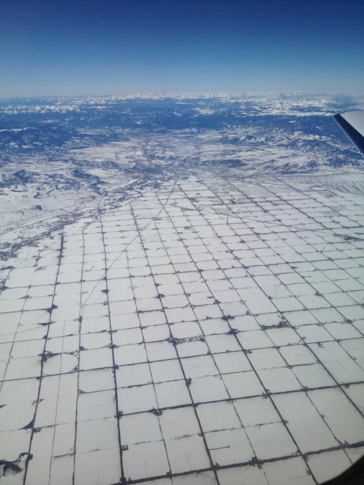 winter aeriel view