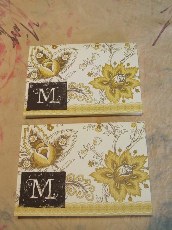 M monogram cards