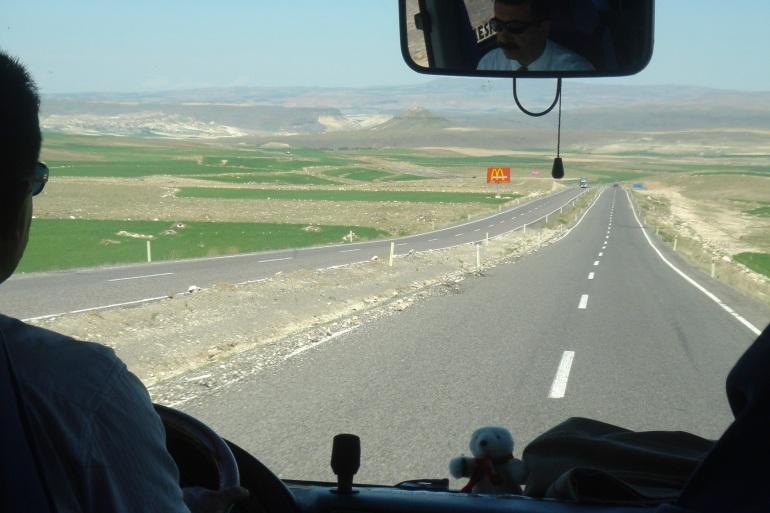 on the bus in Eastern Turkey