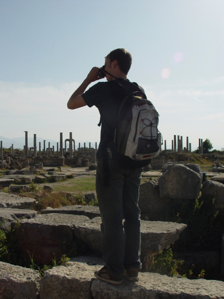 solitary photographer