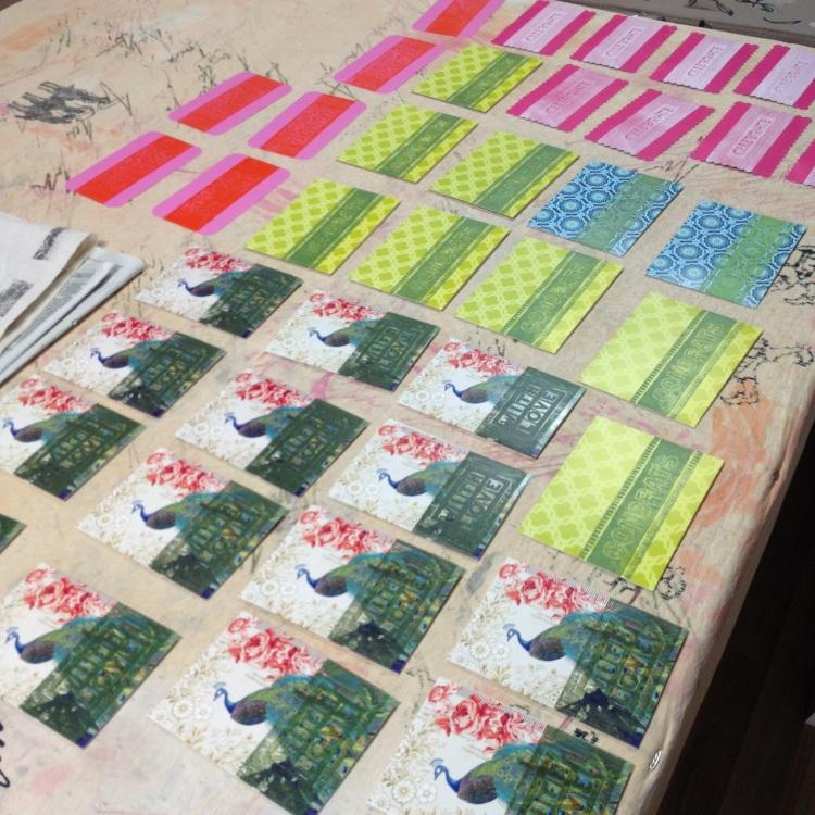 cards freshly printed