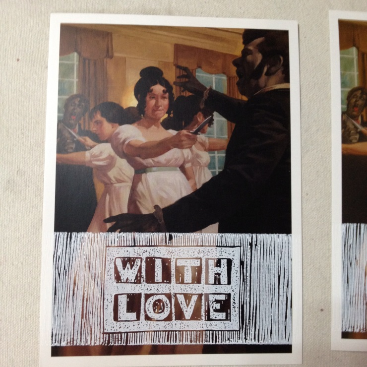 pride and prejudice and zombie card