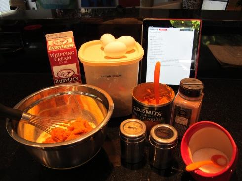 pumpkin pie iingredients