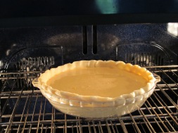 pie in the oven