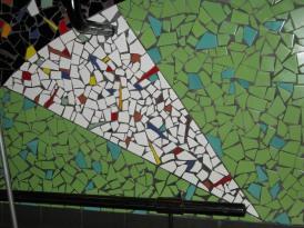 airport restaurant mosaic