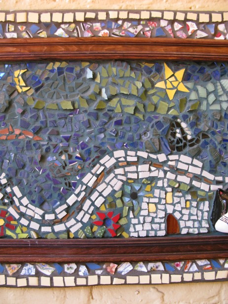framed mosaic art