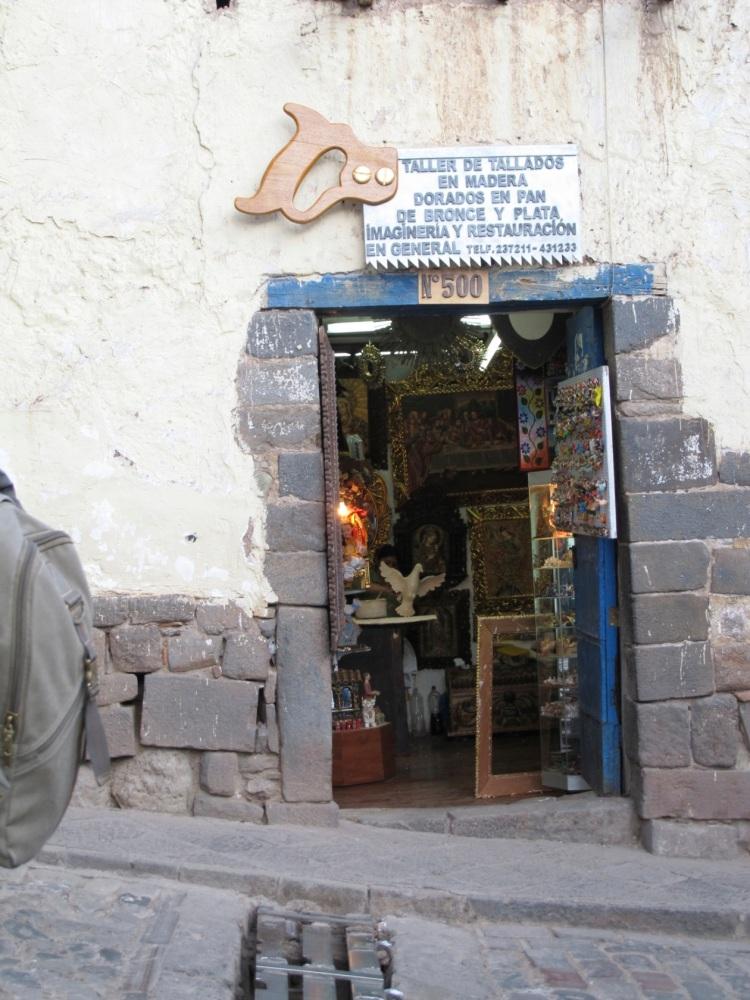 shop entrance in Cusco