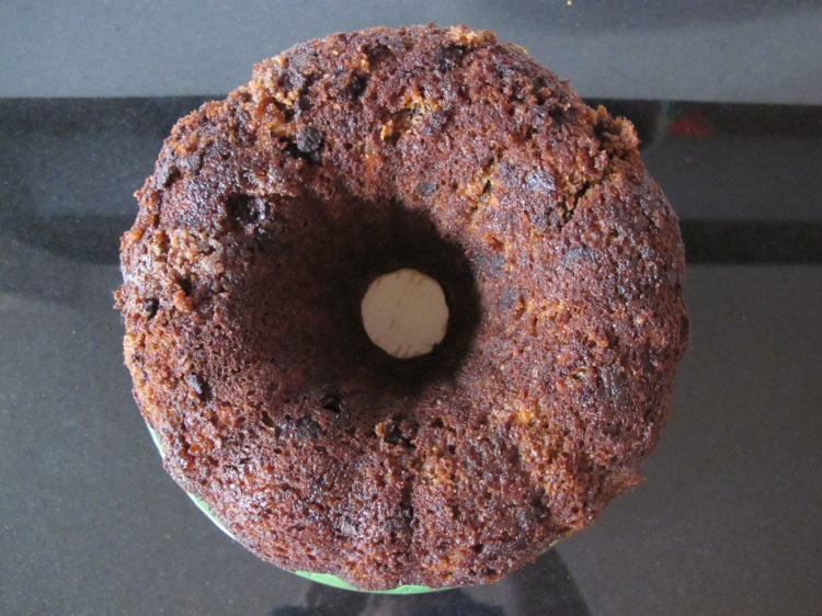 top view of cake