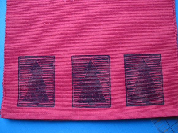 red tree runner
