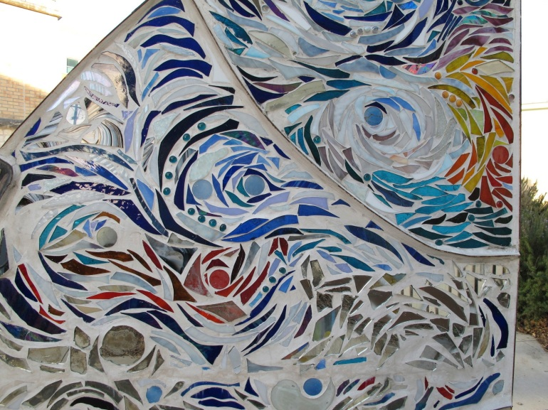 abstract mosaic tile detail