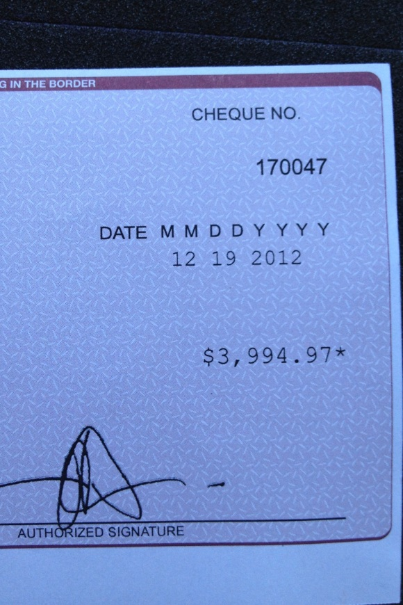cheque detail