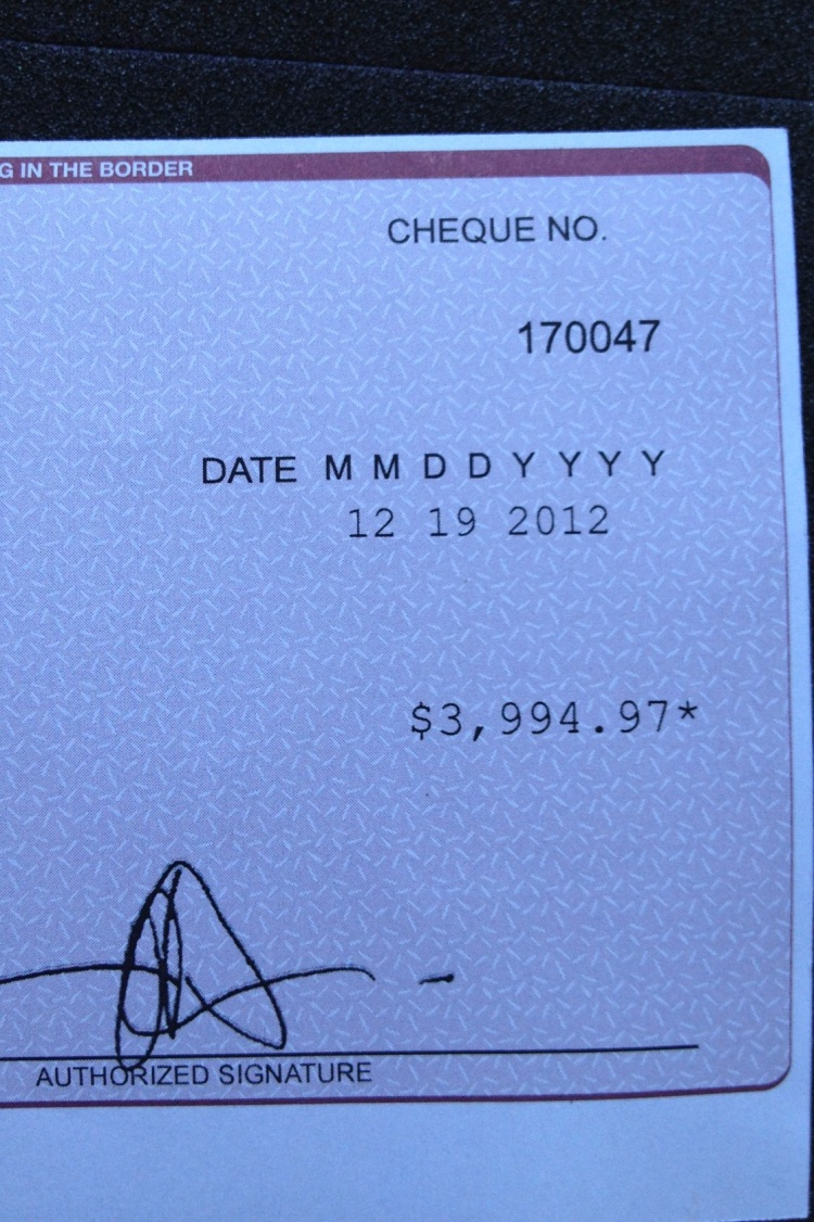 cheque detail