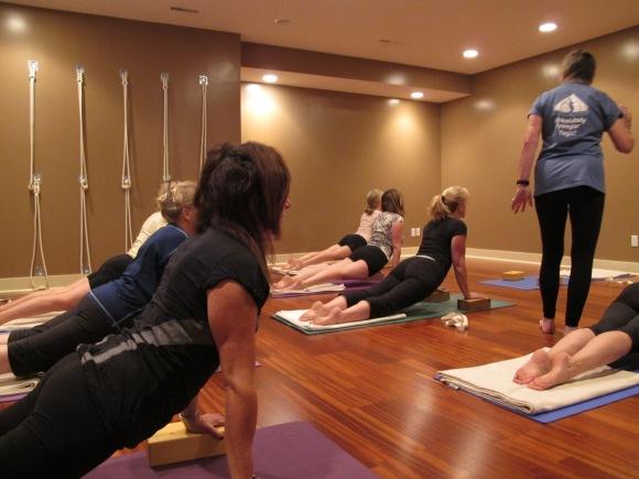 Marlene's yoga class
