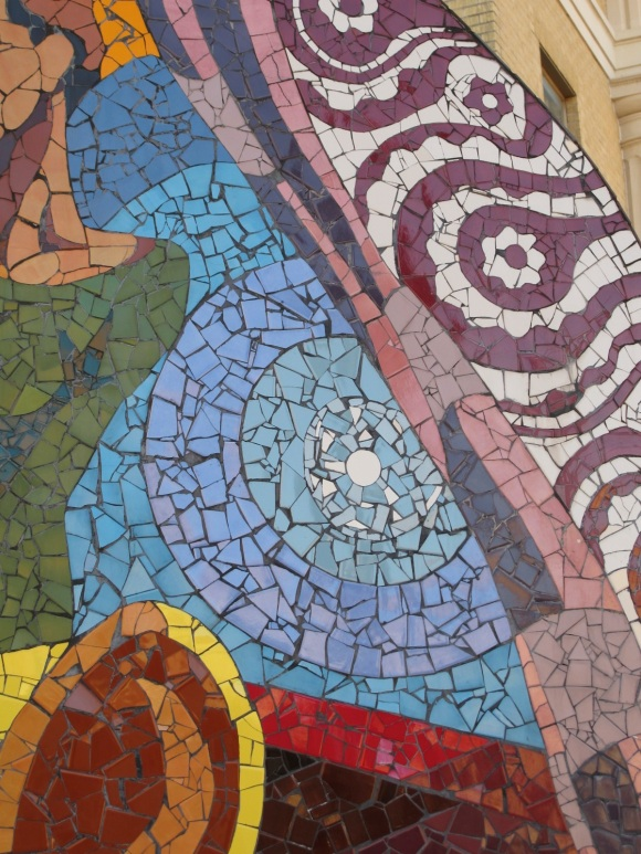 abstract tile mosaic detail