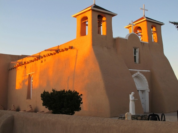 sun on Ranchos church