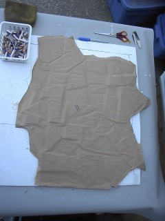 tile covered in paper