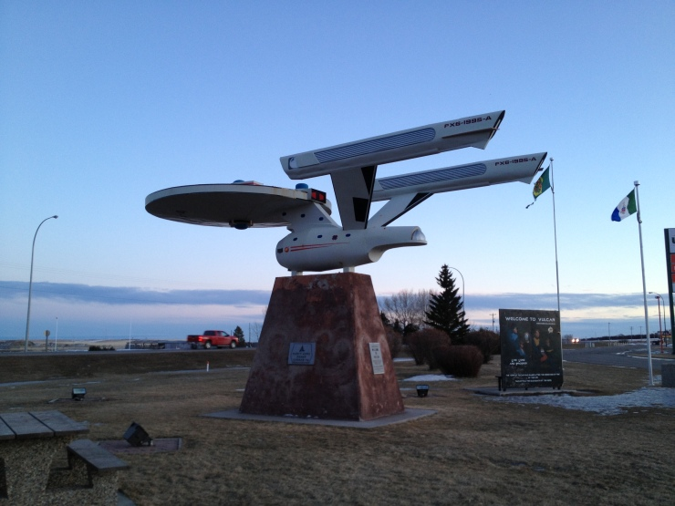 vulcan starship and sign