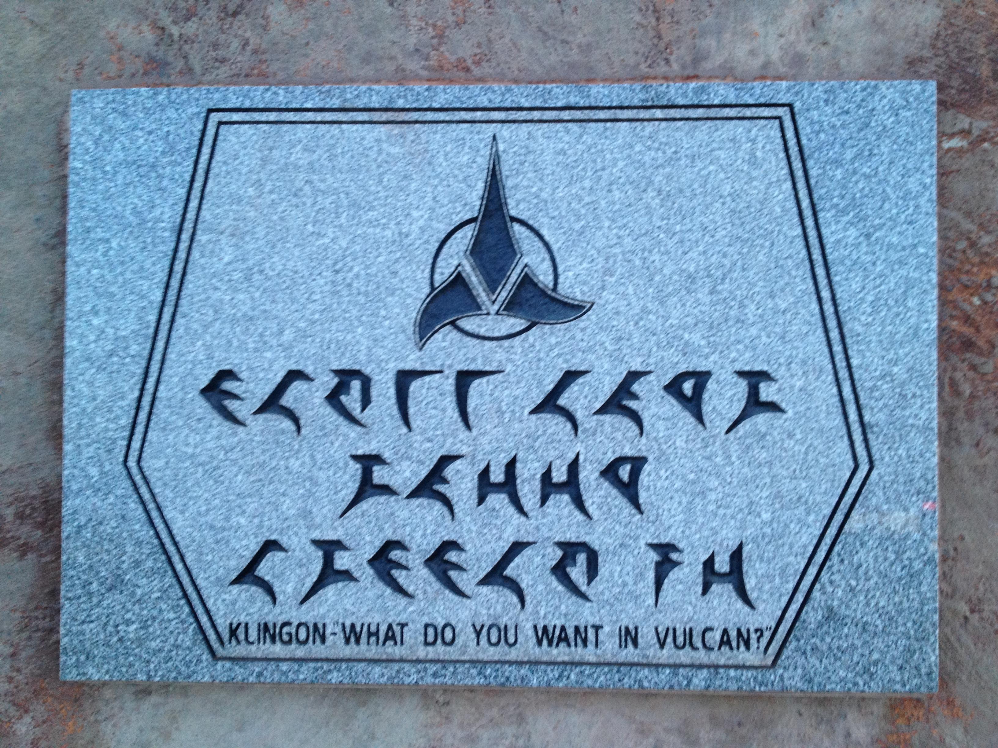 Klingon sign