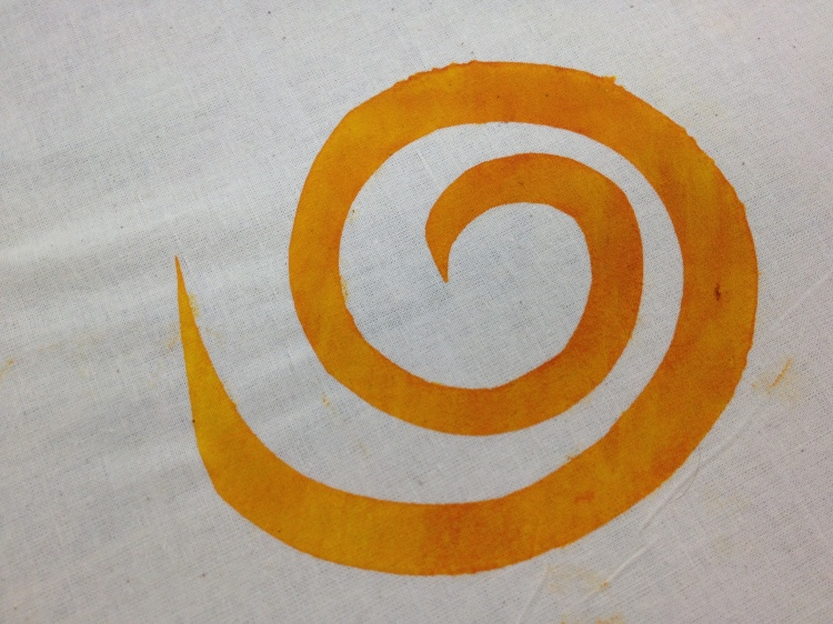 orange yellow swirl
