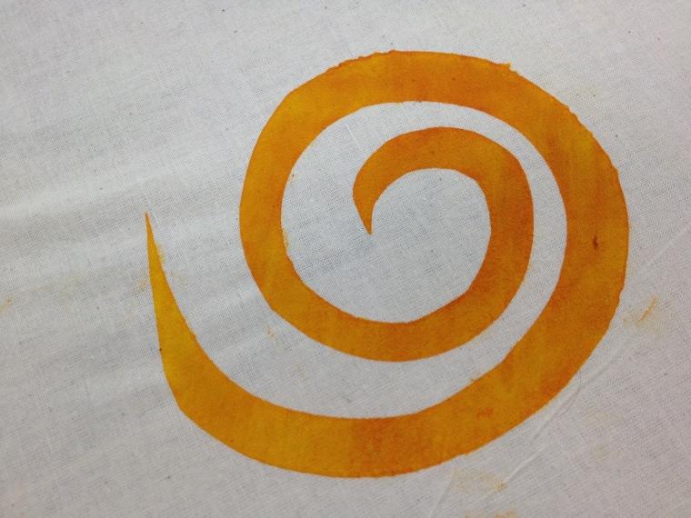 orange yellow swirl