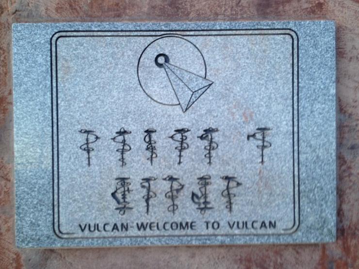 Vulcan welcome sign