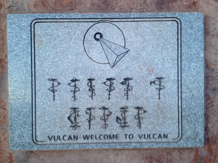 Vulcan welcome sign