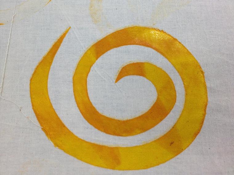 yellow orange swirl