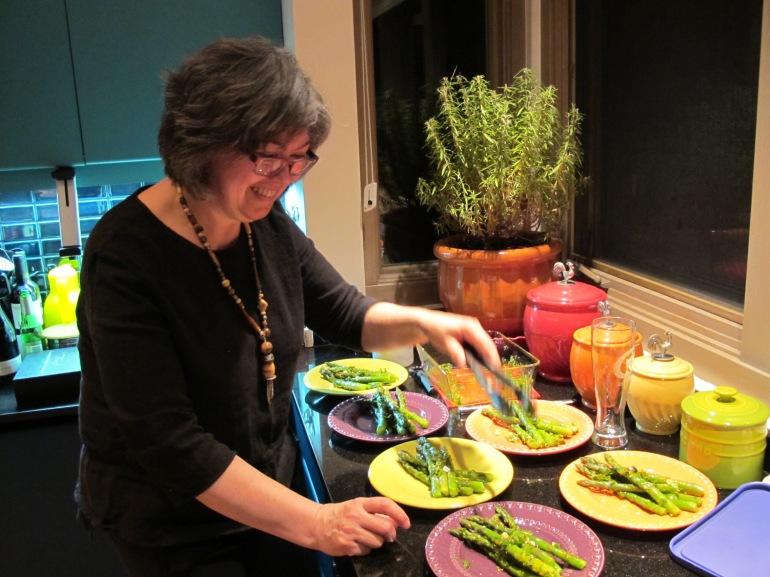 plating the aspargus