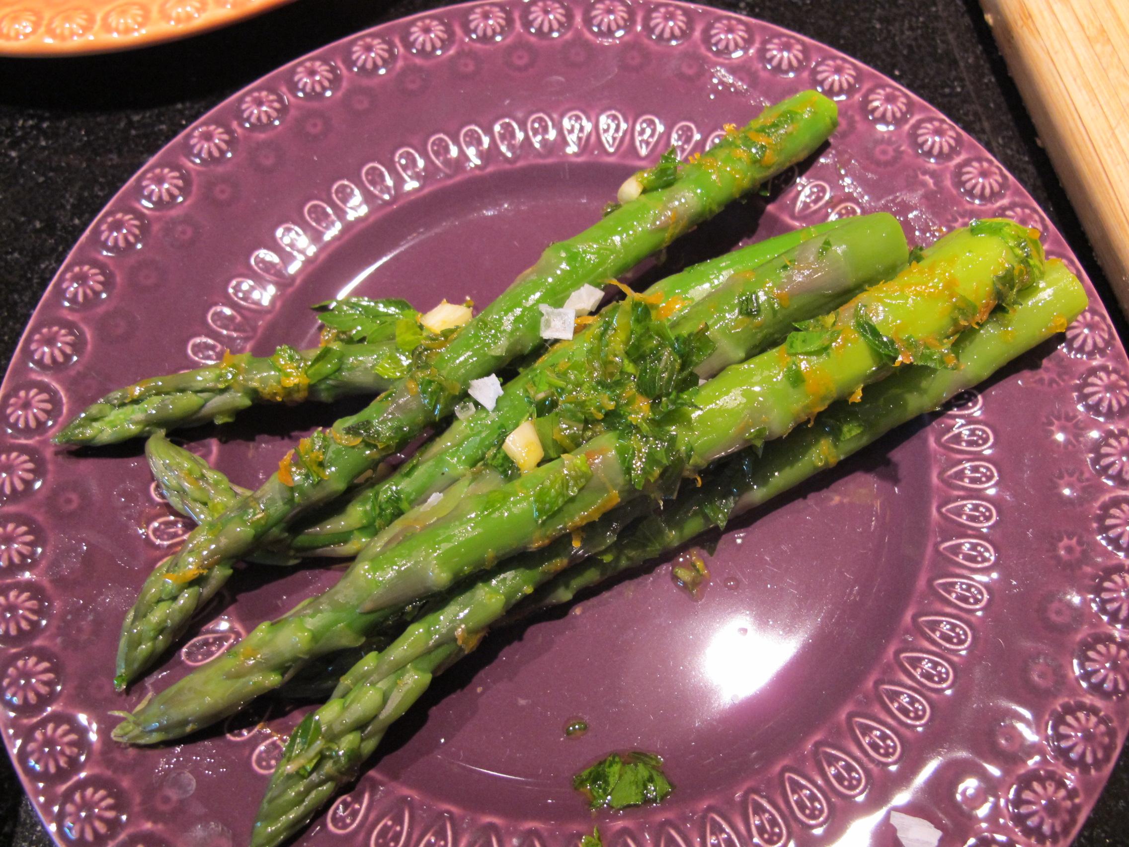 ready to serve asparagus