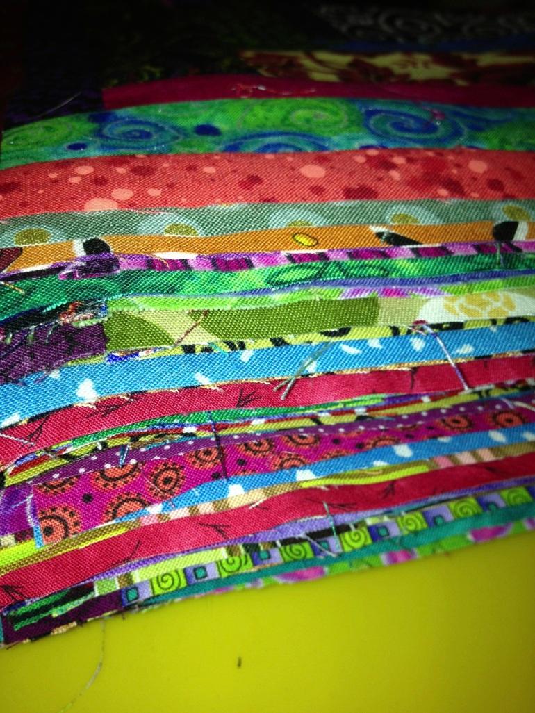 edges of quilt blocks