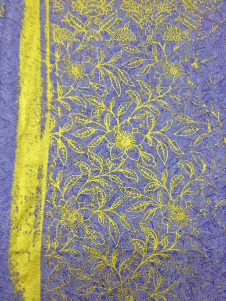 gold ink on purple