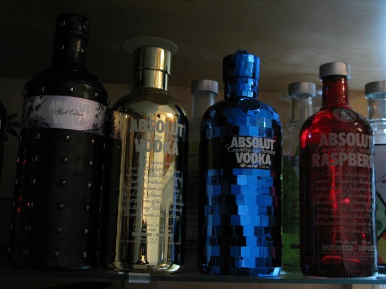 Absolut bottles