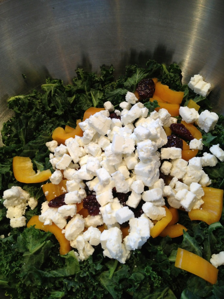 goat cheese added