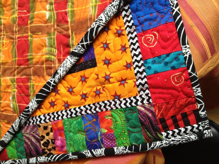back and front of quilt