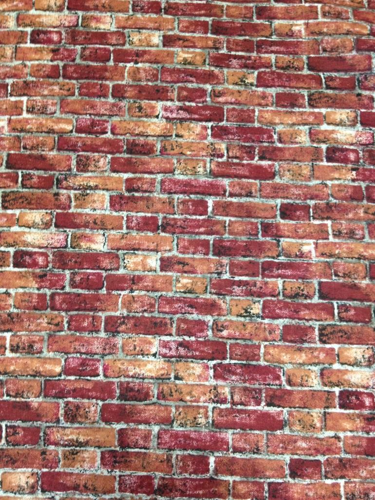 brick printed fabric