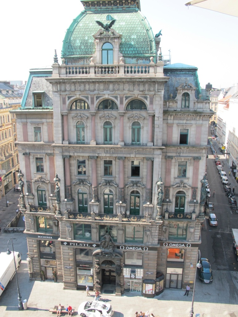 balcony view in Vienna