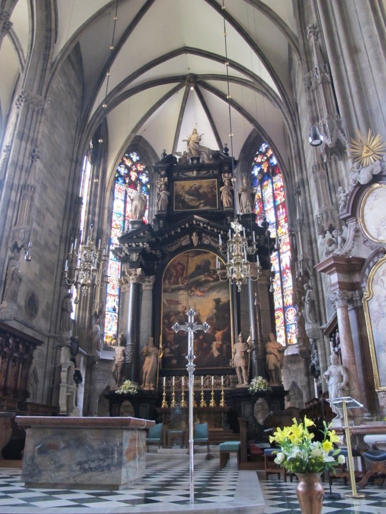 chancel area - St. Stephen's Church, Vienna, Austria