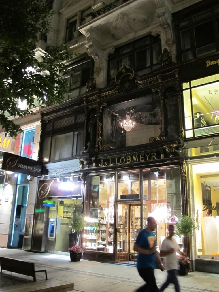 Lobmeyr shop on Graben