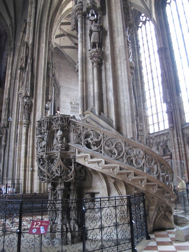 stairs and pulpit