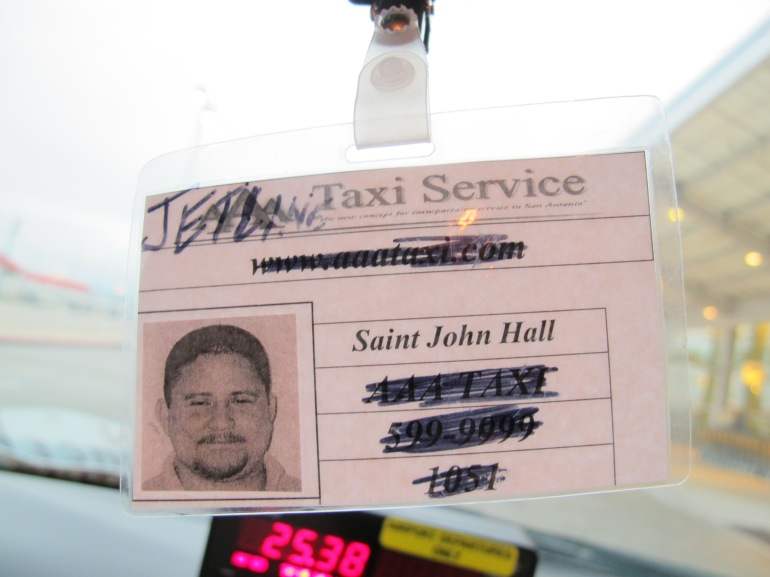 taxi driver's badge