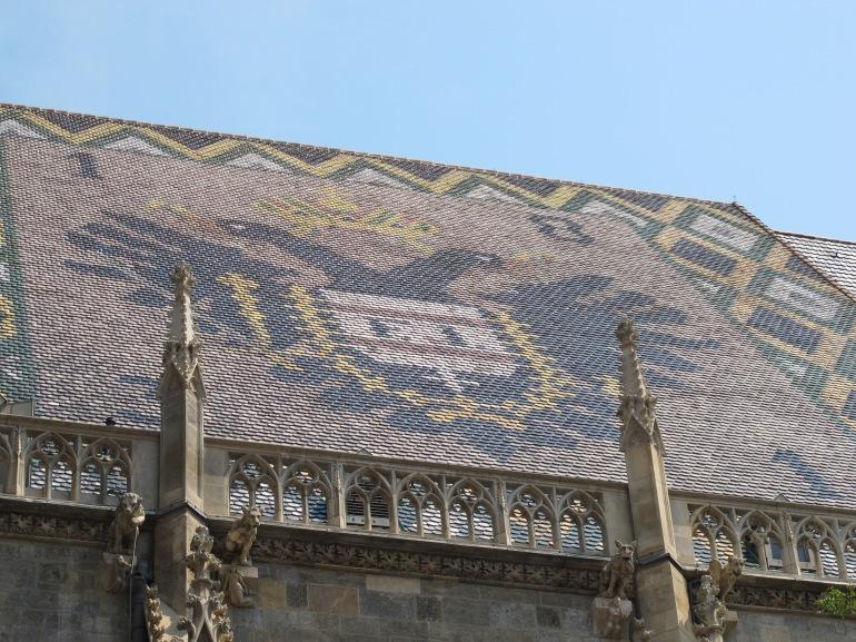 tile crest on roof, St. Stephen's