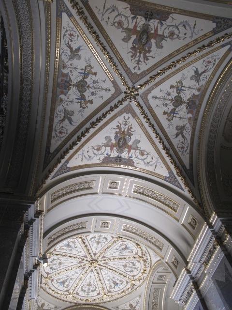 beautiful ceiling,  Kunsthistorisches Museum Vienna, Austria