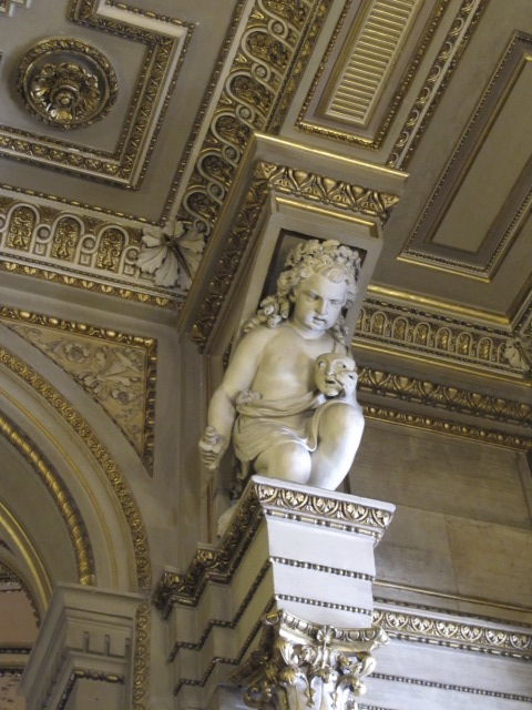 cherub detail, Vienna Opera House
