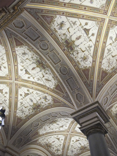 exhibit space ceiling, Kunsthistorisches Museum Vienna, Austria