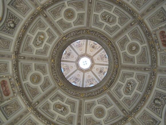 dome ceiling, Kunsthistorisches Museum Vienna, Austria