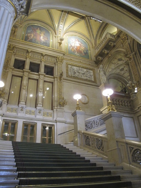 main staircase, Vienna Opera House
