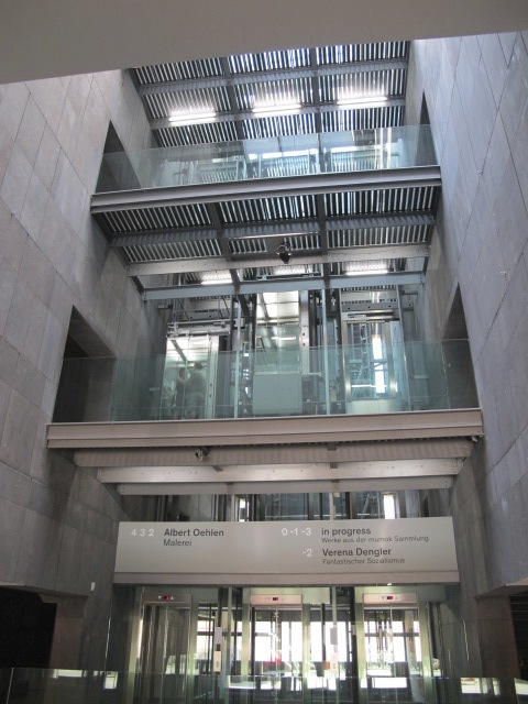 interior view, MUMOK, Vienna, Austria