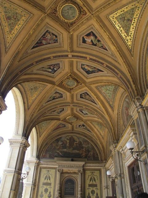 portico ceiling, Vienna Opera House