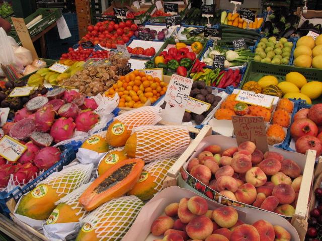 produce display, Naschmarkt, Vienna